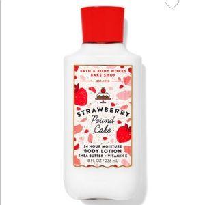 Strawberry pound cake body lotion
